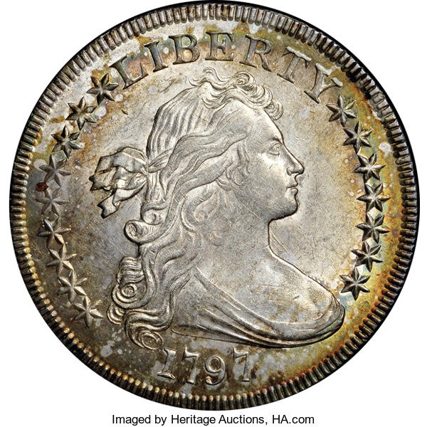 1797 Small Stars, Small Letters Silver Dollar