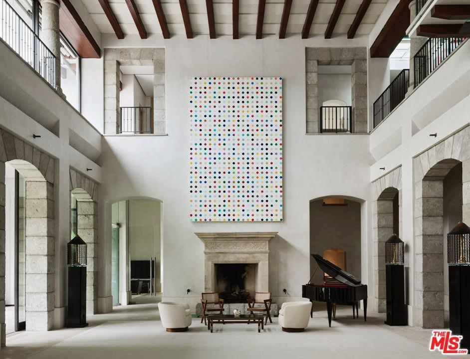 Huge two-story living room
