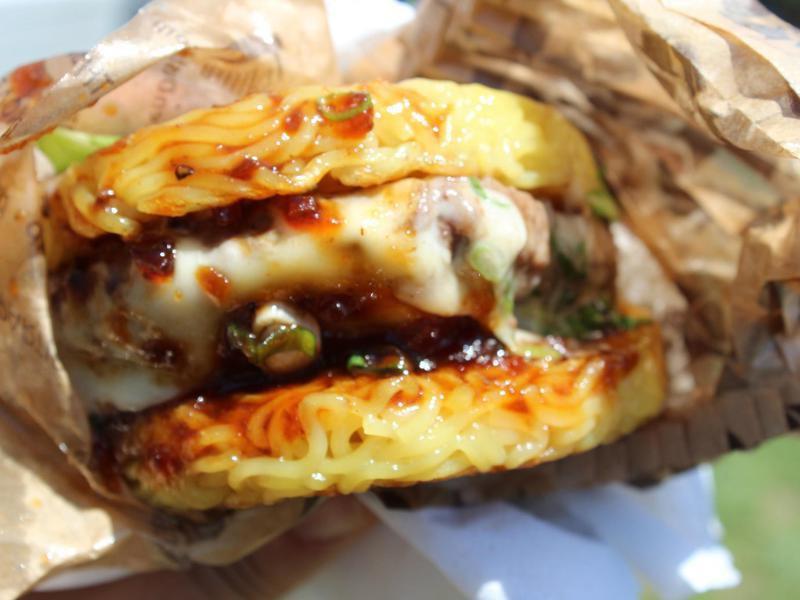 Burger Topping Ideas: Ramen