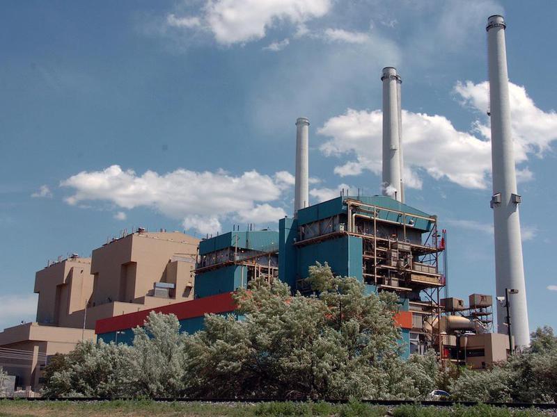 Coal power plant in Colstrip, Montana