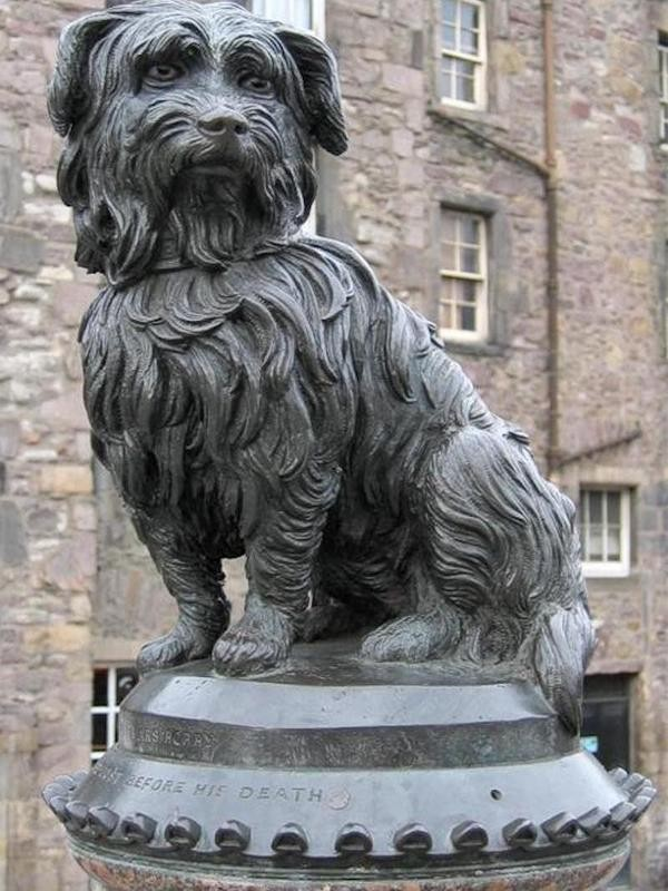 Statue of Greyfriars Bobby in Edingburgh