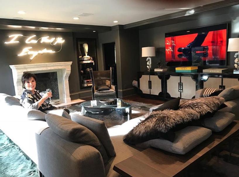 Kris Jenner's living room