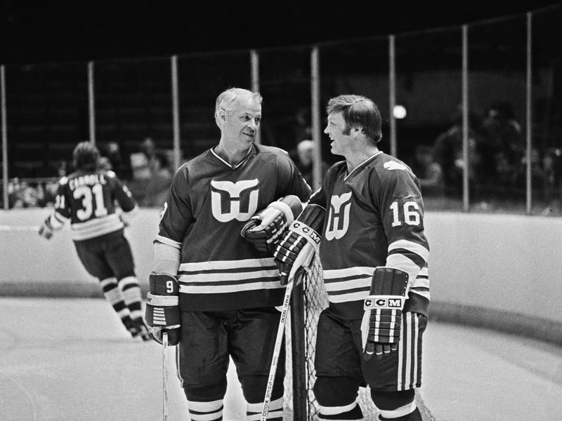 Gordie Howe and Bobby Hull