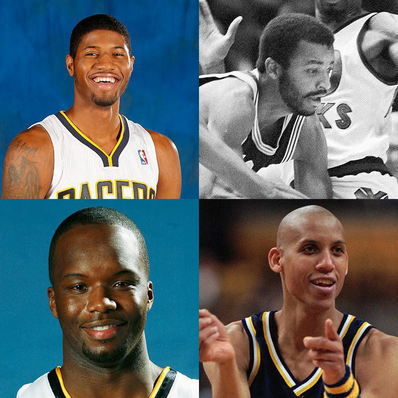 Paul George, Billy Knight, Reggie Miller, Jermaine O'Neal
