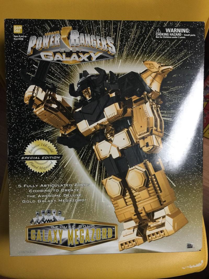 14K Gold Power Rangers Lost Galaxy Megazord