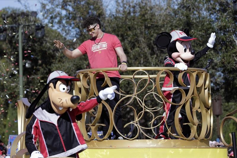 Disney World welcomes Patrick Mahomes