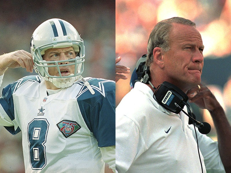 Troy Aikman and Barry Switzer