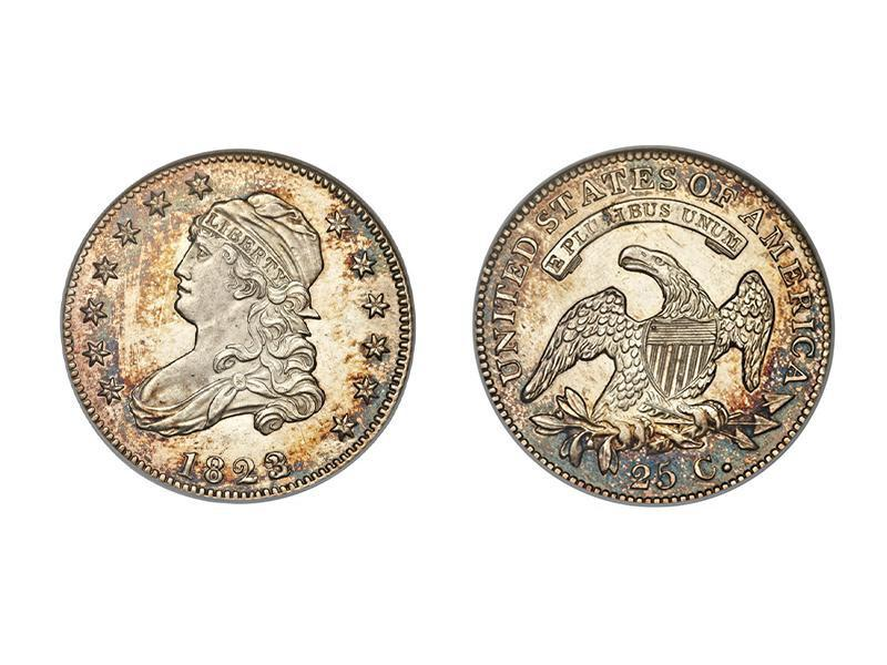 1823/2 Proof Capped Bust Quarter