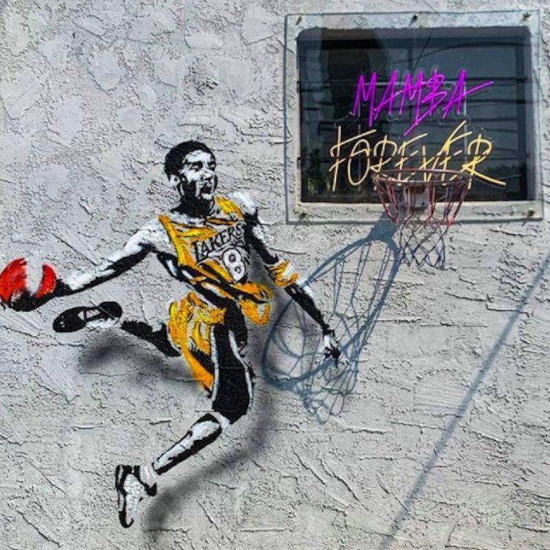 Kobe Bryant mural in Burbank
