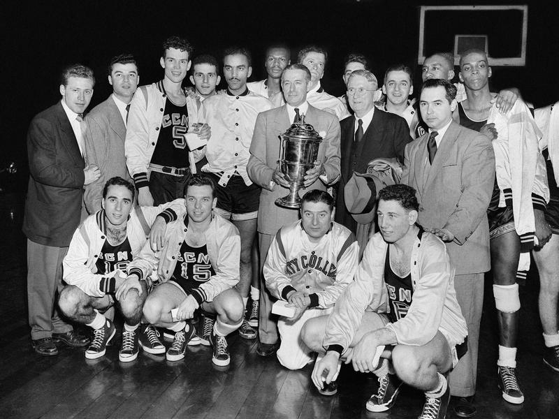 Nat Holman and 1950 City College of New York basketball team