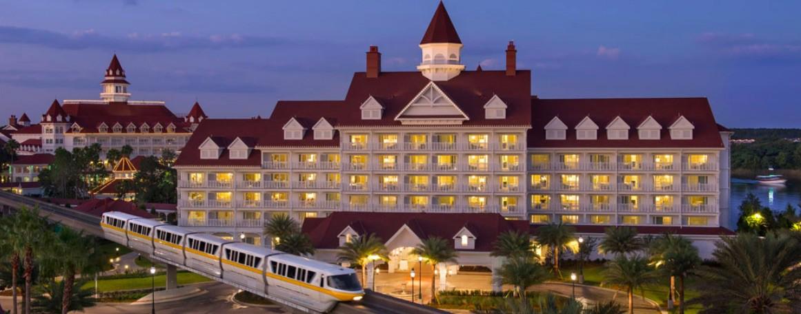The Villas at Disney's Grand Floridian Resort & Spa at dusk