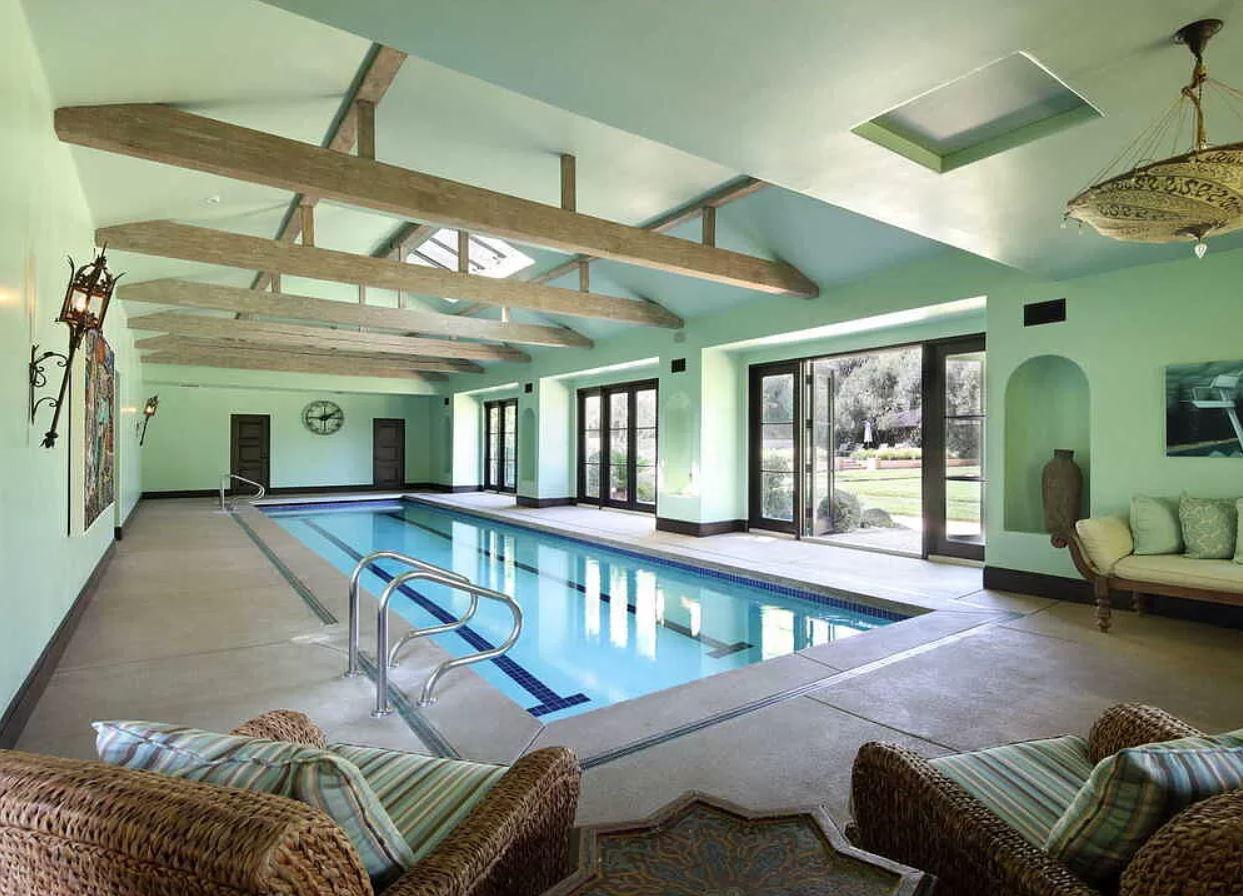 Dwayne Johnson's indoor pool