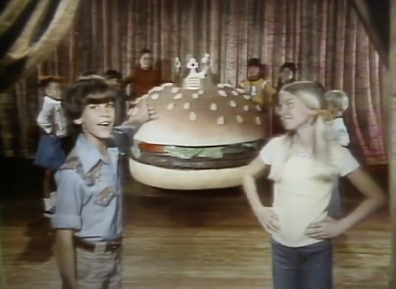 Burger King commercial in 1977