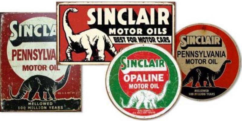 sinclair oil signs