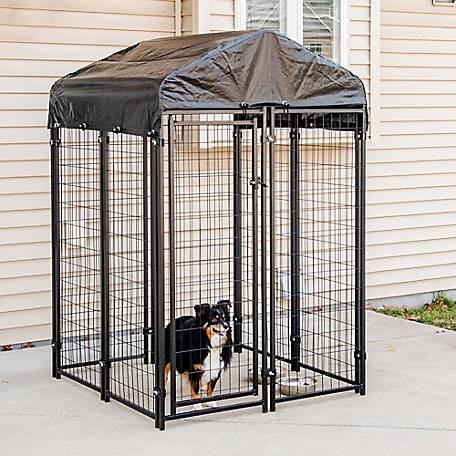 Tractor Supply dog kennel: Pet Essentials Premium Welded Wire Kennel