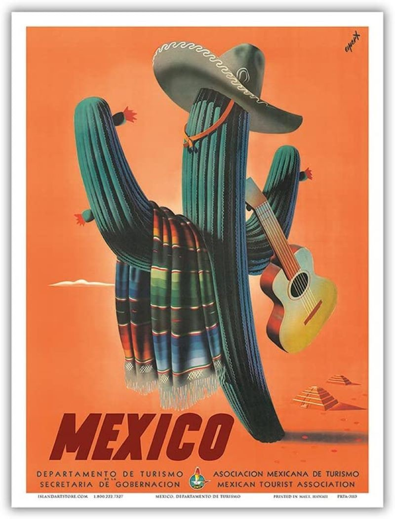 Mexico travel poster by Esbert