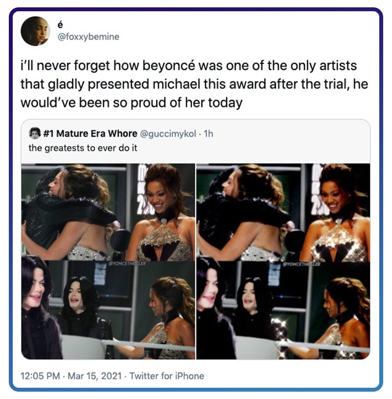 Twitter Beyoncé and Michael Jackson