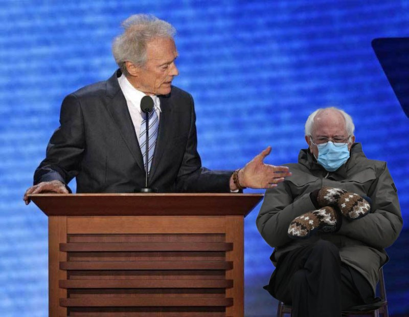 Bernie Sanders and Clint Eastwood