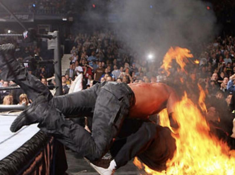 Edge and Mick Foley