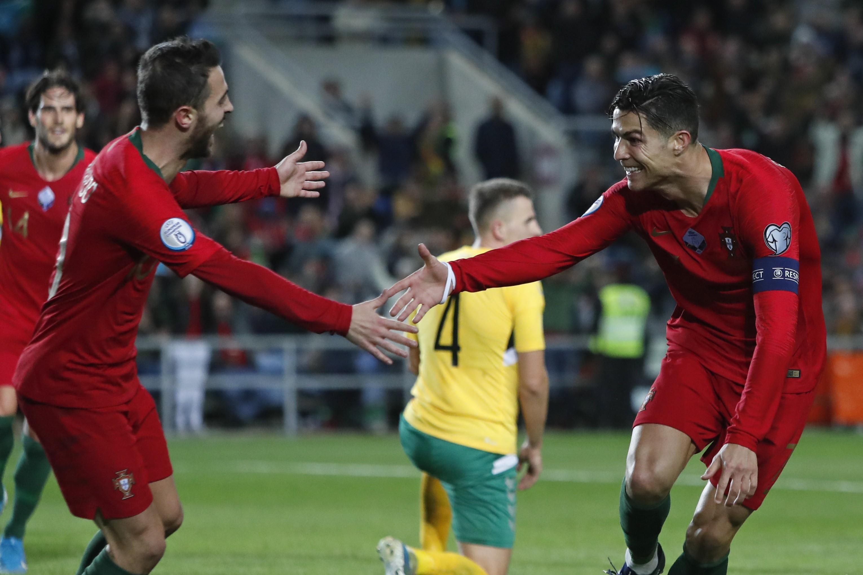 Cristiano Ronaldo and Bernardo Silva