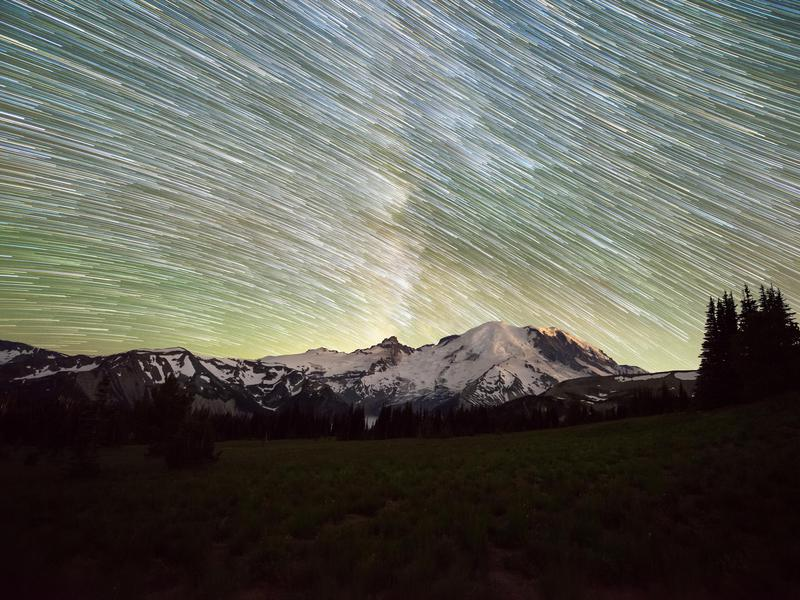 Mount Rainier at Night