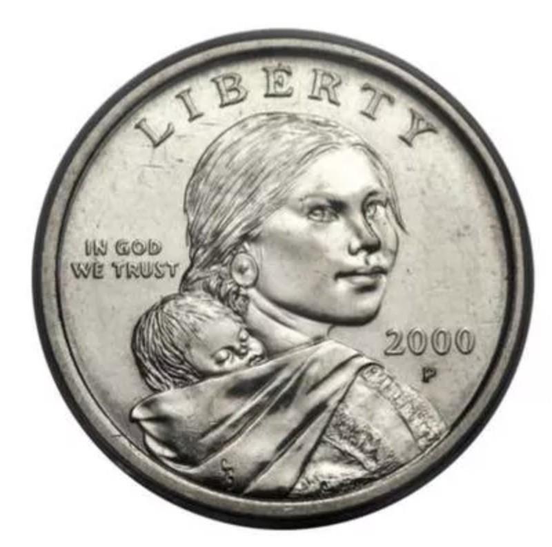 2000-P U.S. Sacagawea Dollars With Transitional Errors