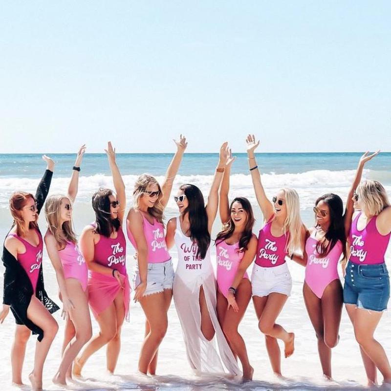 Bachelorette party in Destin Beach