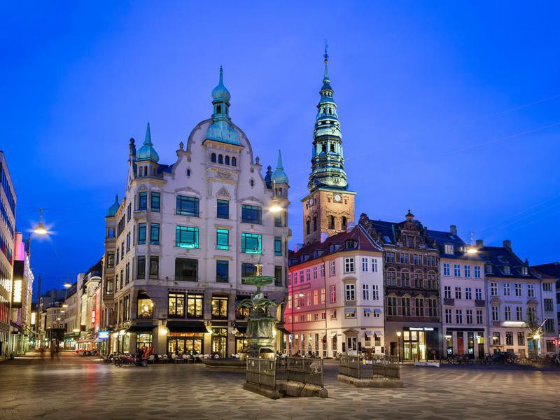 Amagertorv Square and Stork Fountain