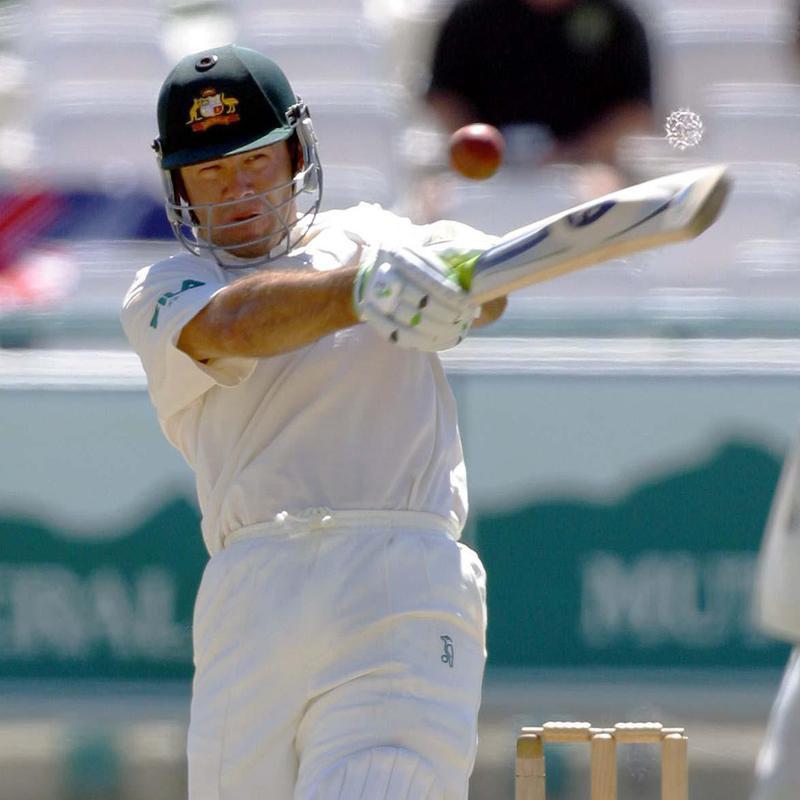 Australian batsman Ricky Ponting hits