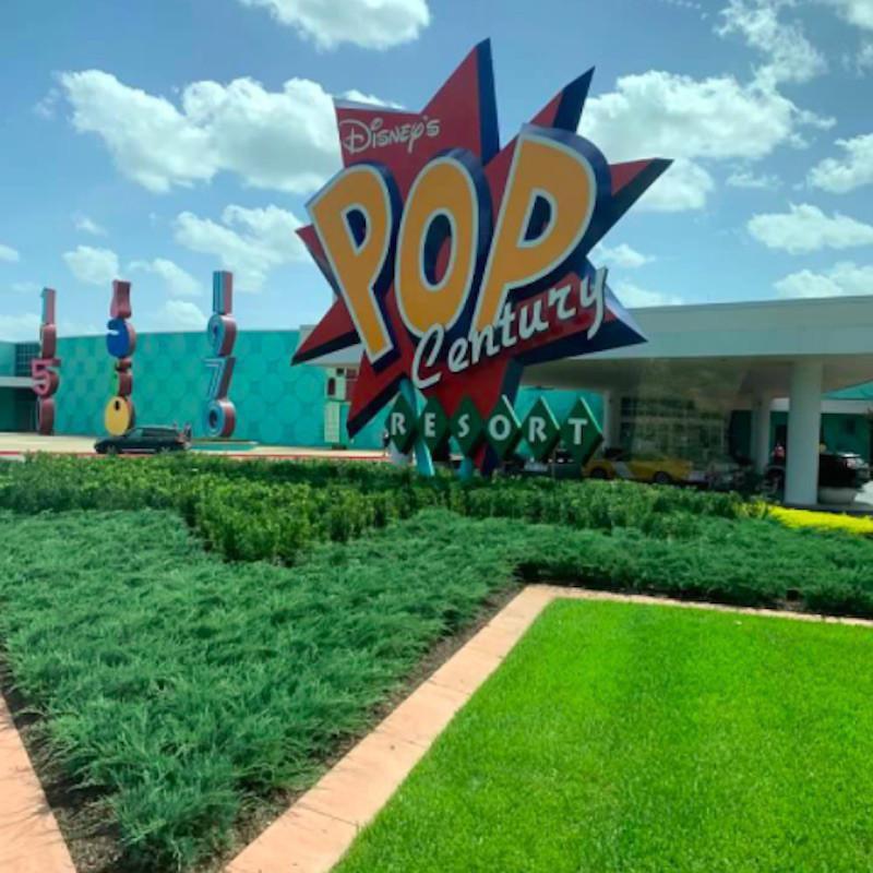 Exterior of Disney's Pop Century Resort