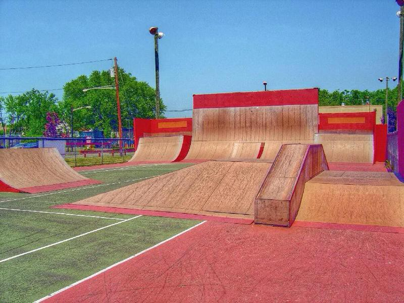 Ann Van Middlesworth Skateboarding Park in Hillsborough Township, New Jersey