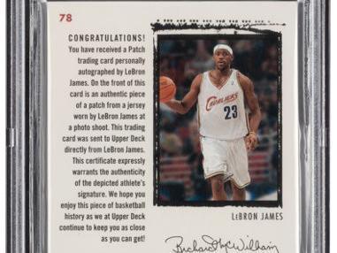 9. LeBron James 2003-04 Upper Deck Exquisite Collection Rookie Patch Autographs card
