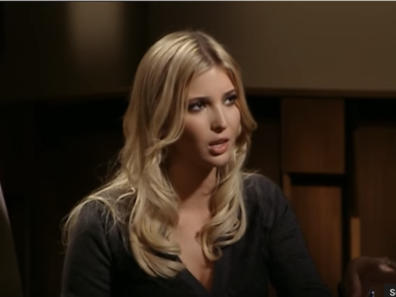 Ivanka Trump as a guest star on 'The Apprentice.'