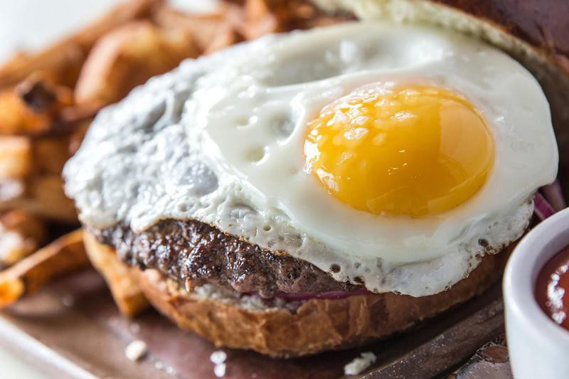 Fried Egg as a Burger Topping