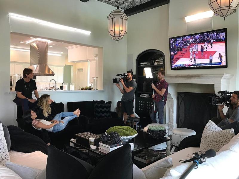 Khloe Kardashian's living room