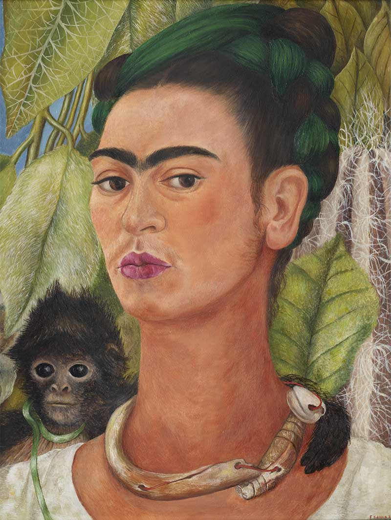 Self-portrait with Monkey