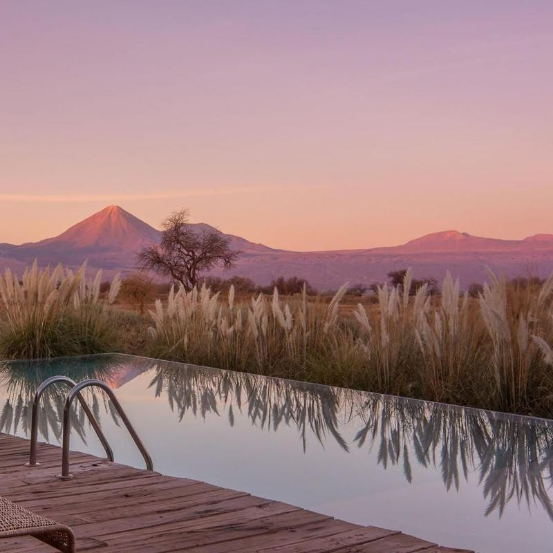Purple Sunsets in the Chilean Desert