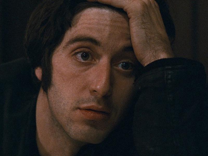 "Al Pacino in ""The Panic in Needle Park."" (1971)"