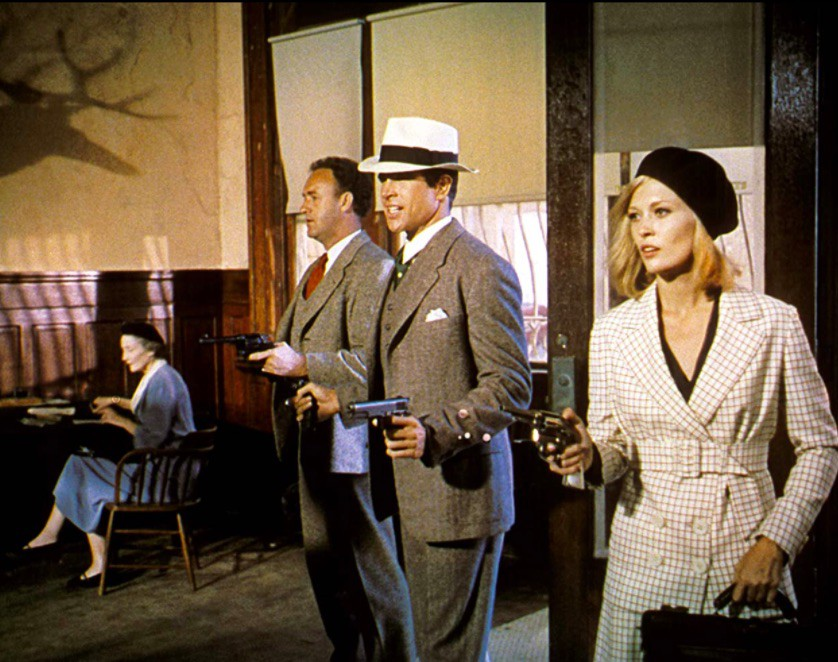 Gene Hackman, Warren Beatty, and Faye Dunaway in Bonnie and Clyde