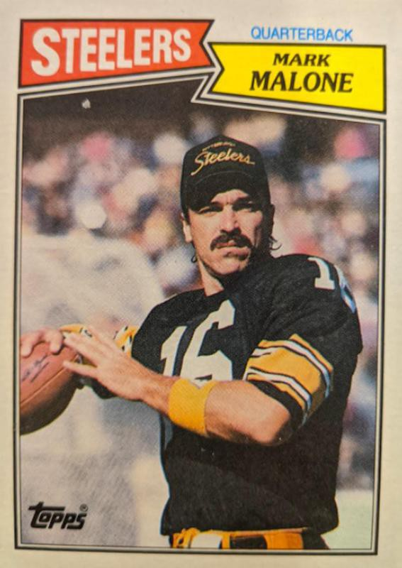Mark Malone on Topps card