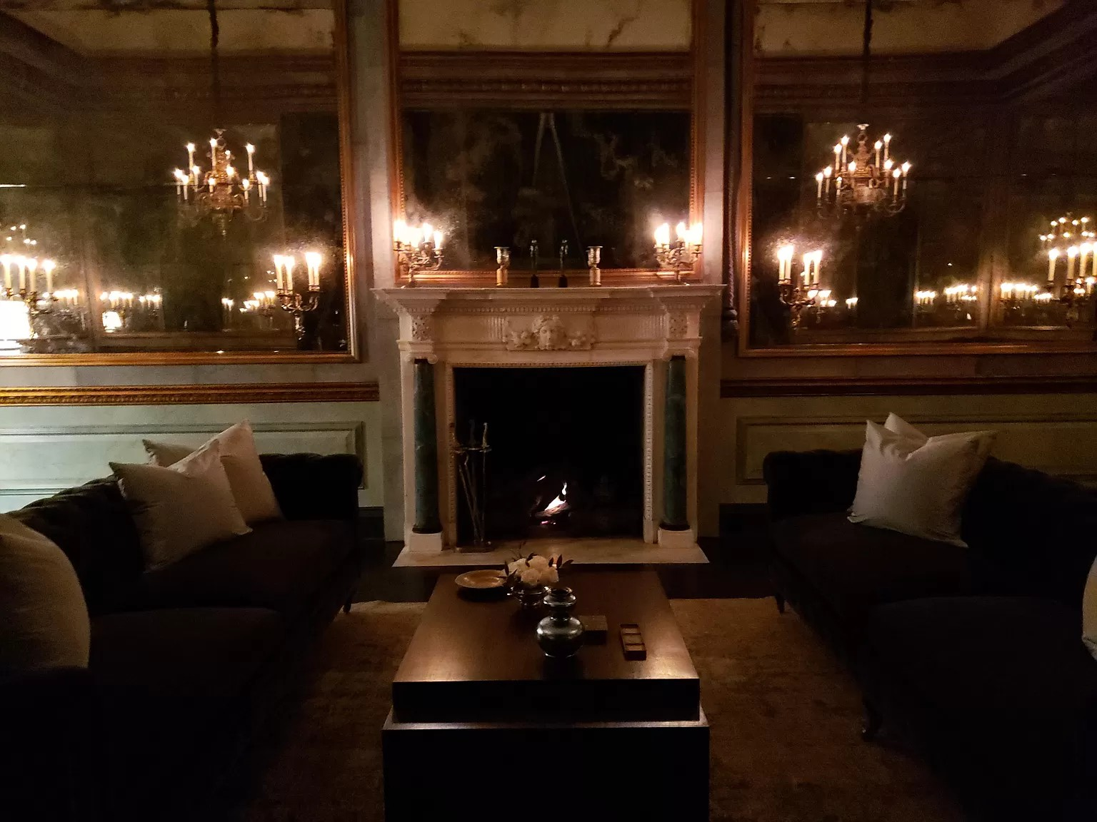 Mirrored living room
