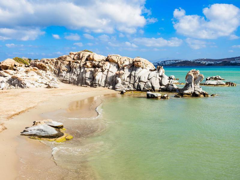 Kolimbithres Beach on Paros Island, Greece