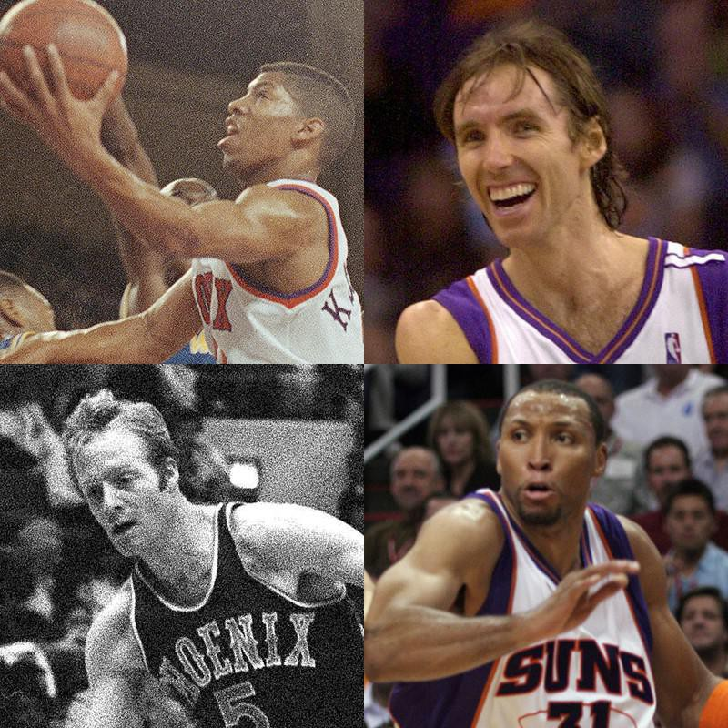 Kevin Johnson, Steve Nash, Shawn Marion, Dick Van Arsdale