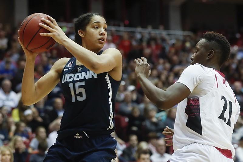 UConn women's basketball player Gabby Williams
