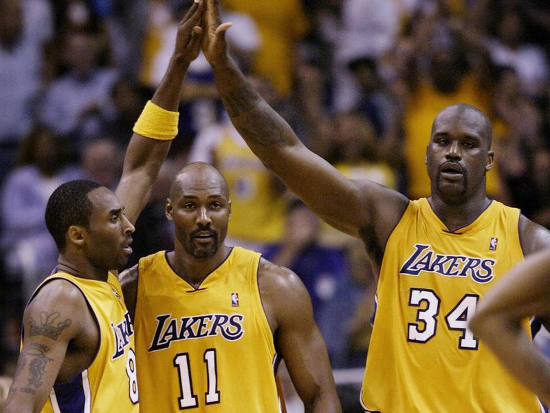 Kobe Bryant, Karl Malone, Shaquille O'Neal