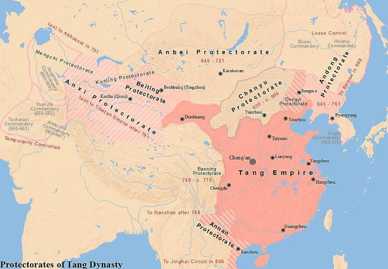 Map of the Tang Dynasty