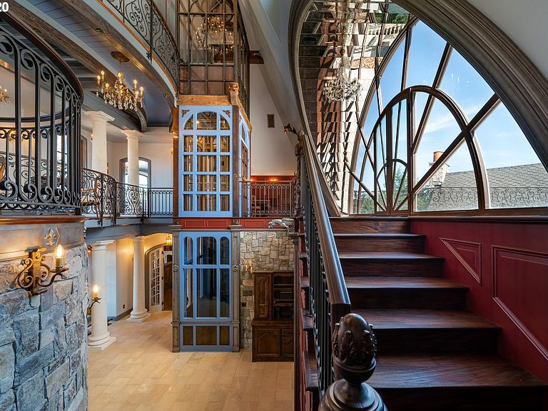 Intricate stairs in house