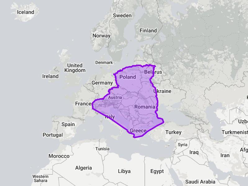 Algeria compared to Europe