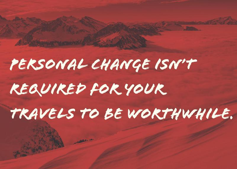 Travel Personal Change Not Required