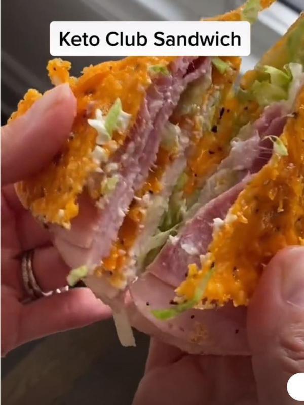 Keto club sandwich